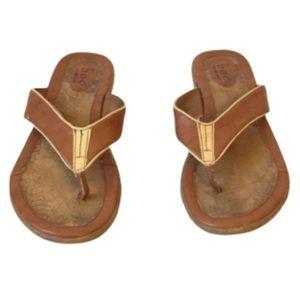 BOC Thong Sandals Two Tone Tan size 9